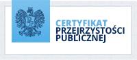 Certyfikat Przejrzystości Publicznej